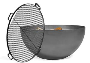 BlackOrange Brasero design Moon Ø 85 cm avec grille en acier inoxydable Ø 80 cm