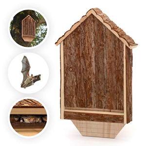 CKB LTD Bâche de chauve-souris en bois pour l'extérieur de la maison d'habitat – L'hôtel peut également être utilisé pour la maison d'hibernation pour le jardin 30,5 x 6,5 x 46,5 cm