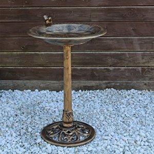 CLGarden VGT3 Bains d'oiseaux, Baume d'oiseaux, potions d'oiseaux, Fontaine à Oiseaux avec Oiseau décoratif