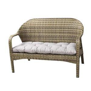 Coussin de rechange pour chaise longue de jardin, rectangulaire, doux et épais, pour banc de jardin extérieur pour 2 ou 3 places