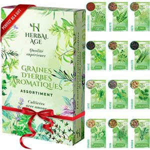 Cultivez votre propre jardin d'herbes aromatiques –12 variétés d'herbes aromatiques,8700 graines – Kit de plantation d'herbes aromatiques pour Femmes, Enfants, Debutants, cadeaux de jardinage