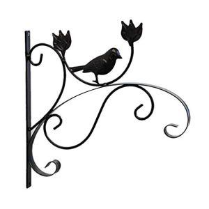 Demarkt Crochet pour suspension de fleurs, 1 pièce rétro oiseau en fer forgé Crochet mural avec vis pour pots de fleurs, plantes, paniers suspendus, jardin, balcon, décoration extérieure