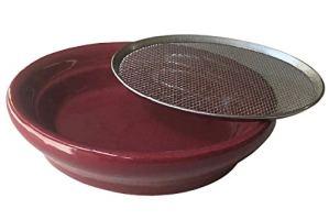 Diewald moulin à grains modèle cresson-passoire 12 cm en céramique bordeaux