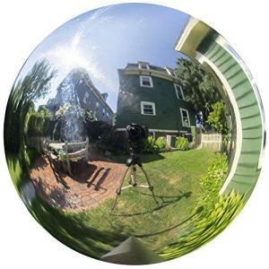 DoMyfit Boule de Jardin en Acier Inoxydable Poli réfléchissant, Brillant et Durable 23 inch