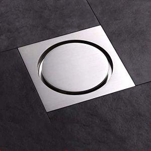 Drain de plancher Draine le sol En laiton noire Drain de sol avec couvercle de sol Chambre Douche Push Down Drak Plug Bain Douche de douche Couvercle de drain de plancher (Color : D)