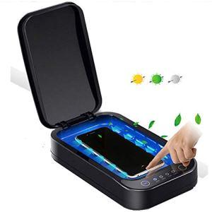 DSHUJC 2 en 1 téléphone Portable Stérilisateur avec Chargeur USB Smartphone assainisseur UV Fonction d'aromathérapie pour téléphones intelligents Montres Casque
