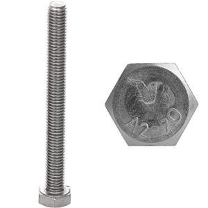 Faston Lot de 10 vis à tête hexagonale M12 x 60 en acier inoxydable A2 V2A DIN 933