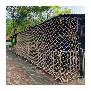 Filet Décoratif, Rétro Tentures Murales Décor Net Corde Tissée D'escalade Résistant À L'usure Et Durable Anti-âge Peut Être Enroulé Économiser De L'espace ( Color : Beige-18mm , Size : 4x6m )
