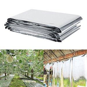 Film réfléchissant Silver Plant, feuilles de revêtement réfléchissantes pour serre – 210 x 120 cm – Idéal pour une utilisation en jardin ou dans une serre afin d'augmenter la croissance des plantes