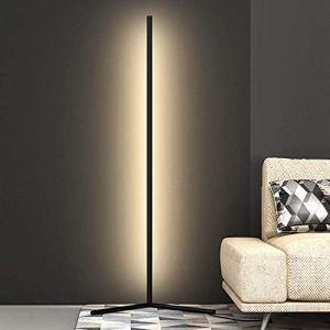 Floor lamp Lampe de Plancher de Coin RGB LED, changeant de Couleur 142cm de Haut Minimaliste Couleur Nordique changeant la lumière de l'atmosphère Debout avec Une télécommande dimmable
