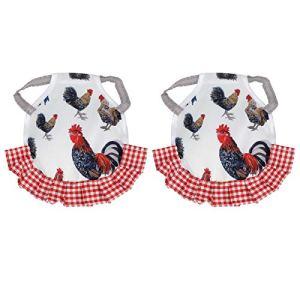 FOKH Motifs sur Le thème de la Poule en Tissu, Protection Dorsale, Protection pour Les Poules(Type C)