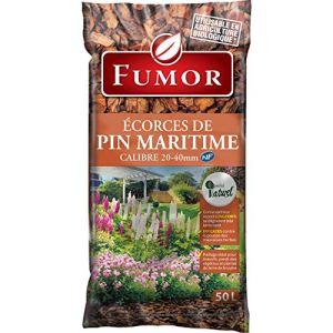 FUMOR – Ecorces de pin Maritime 50 L- Ideal pour Les massifs Les Pieds des vegetaux Plantes de Terre Bruyere 100% Naturel – FUMPIN