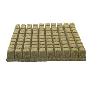 GeKLok Cubes de laine de roche pour culture/colonisation – Cubes de laine de roche – Feuilles de démarrage – Culture hydroponique – Cubes de laine de roche sans sol – Culture hydroponique
