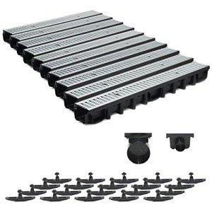 Gouttière de drainage pour terrasse en acier galvanisé Système A15 98 mm 10 m