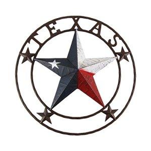 Grand 61cm Texas Star State Drapeau Cercle Panneau Home/Grange/taverne Pub/bar/Décoration murale