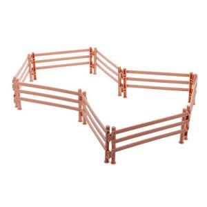 Hemoton Lot de 20 clôtures miniatures de chevaux – Clôture de jardin – Pour maison de poupée – Ornement en plastique – Jouet pour ferme, grange, maison de poupée
