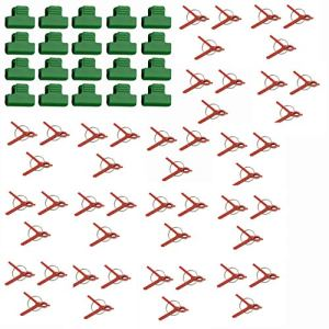 Holibanna 170 Pièces Ronde Bouche en Plastique Greffage Clip Clips De Soutien des Plantes Fleur Connecteur Treillis Clips Vigne Clips De Fixation pour Légumes Tomate Pastèque Jardinage