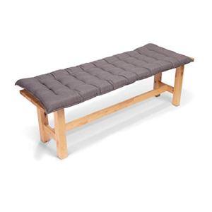 Homeoutfit24 Sun Garden – Coussin de Banc, Confort d'assise, Haute qualité, pour Meubles de Jardin, 140 x 50 x 7 cm – Gris