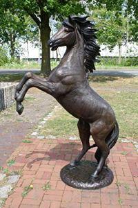 H.Packmor GmbH Sculpture en bronze en forme de cheval grandeur nature Décoration pour maison et jardin