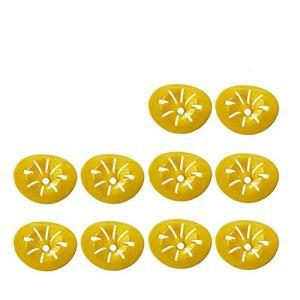 Ibesecc Lot de 10 mini pièges à guêpes en forme de fleur réutilisables et pratiques pour l'extérieur (jaune)