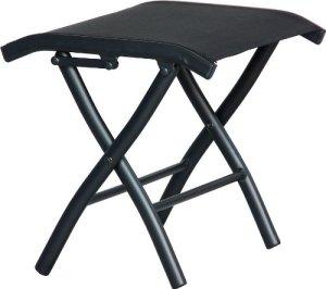 IB-Style – Diplomat Tabouret de Pied Salon de Jardin | Meuble de Jardin | Pliable | Noir/Noir