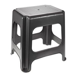 keeeper Maxi-Tabouret, Plastique Robuste (PP), 41 x 33,5 x 42,5 cm, Max, Graphite