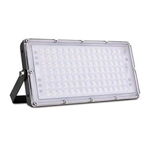 Lampes de travail LED 100 W, éclairage extérieur, projecteur IP66, étanche, lumière super lumineuse, éclairage pour garage, jardin, cour, magasin, terrain de basket-ball (blanc chaud, 8 pièces)