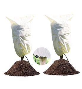 LINSOCLE 2 Pack Hivernage Plante, Housse Hivernage Plante, Protection Plantes,100 x 80cm Housse d'Hivernage, Housse de Protection pour Plantes Housse d'hivernage Réutilisable