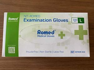 Lot de 100 gants en nitrile sans poudre Taille L