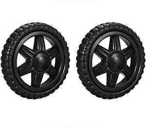 Lot de 2 roulettes de rechange pour chariot de courses en caoutchouc mousse Noir 12,7 cm