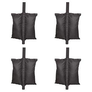 Lot de 4 sacs de lestage pour tonnelle de jardin Noir