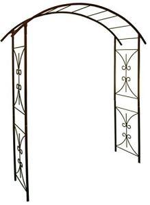 Louis Moulin 3289920030268 Arche Tube carré pour Plantes grimpantes, Fer Vieilli, 180x50x250 cm