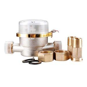 LQKYWNA Compteur d'eau pointeur de débit Affichage numérique Combinaison Compteur d'eau de Type E Compteur d'eau à Aile rotative mécanique débit pour Maison et Jardin