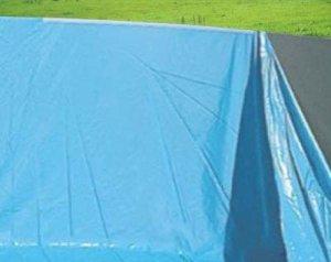 Mendler Revêtement intérieur pour Piscine/Pool, banne/bâche intérieure, épaisseur 0,5mm ~ Ø 4,57m x 1,32m