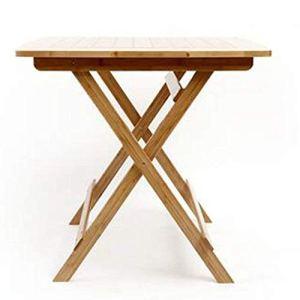 N/Z Équipement Quotidien Table de Loisirs Table carrée Pliante Table Pliante Portable Table à Manger Table en Bambou Table carrée Simple Petite Table Pliante Table Pliante en Bambou Deux Couleurs