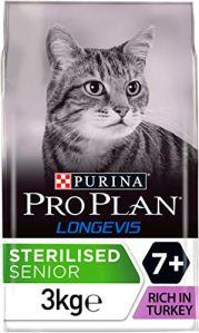 PRO PLAN Sterilised 7+ avec LONGEVIS 3 KG – Croquettes pour chat sénior