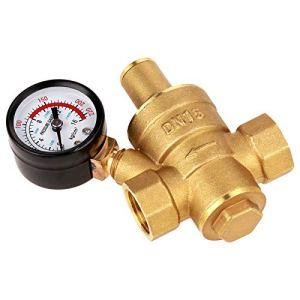 Régulateur de pression simple, bouton de réglage du réducteur de pression G La vanne de réduction de pression de filetage G adopte avec du laiton