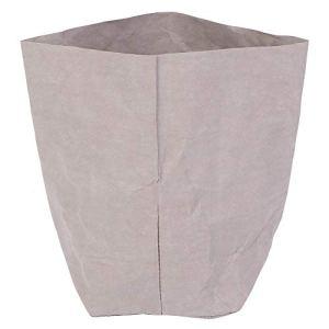 Sac De Rangement De Papier Kraft De Papier Kraft Réutilisable Gris pour Sac De Rangement pour Jardin Balcon De Jardin 20x20cm