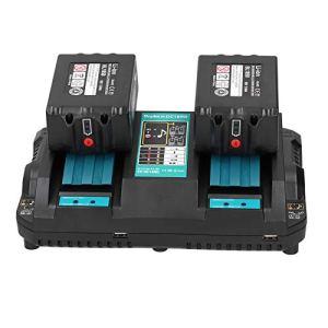 SEDOOM Chargeur De Batterie Au Lithium 2 Ports, pour Makita DC18RD Fast Industrial Fournitures, 100-240V, Plug UK