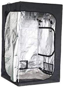 Serre de Jardin 60x60x140cm LED Grow Only Hydroponics Indoor Hydroponics Cultiver la tente, cultivez une boîte à boite de la salle de croissance, des serres de jardin réfléchissantes ZSMFCD
