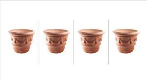 Siena Conca Con Festone Pot de fleurs en terre cuite résistant au gel Taille XXL 4, 80 cm