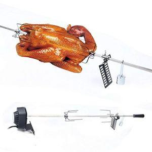 TFCFL Tournebroche avec moteur – Barbecue à gaz – 10 kg maximum – Diamètre : 47 cm – Diamètre : 57 cm