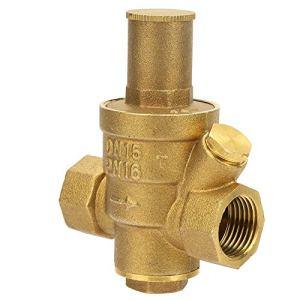 Vanne de régulation de pression résistante à l'usure, bouton de réglage 8,3 * 6,5 cm en laiton 1/2 vanne de régulation de pression en laiton