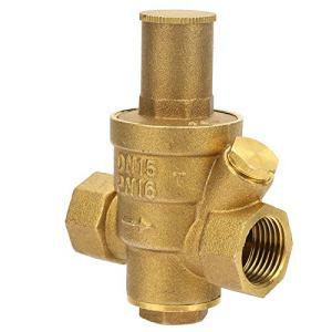 Vanne de régulation de pression, vanne de régulation de pression, 1pc laiton réglable réducteur de pression d'eau de la vanne de régulation filetage DN15 1/2″