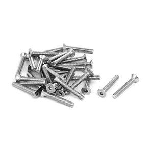 Viti a esagono incassato a testa svasata M6x40mm 304 in acciaio inossidabile DIN7991 30 pezzi
