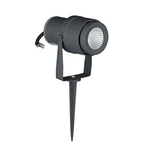 V-TAC vt-857Spot LED COB de jardin 12W avec piquet Gris IP65 Blanc chaud
