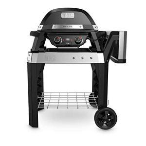 Weber Pulse 2000 Grill chariot électrique 2200 W Noir, Acier inoxydable – Barbecue 2200 W, grille, électrique, 490 x 390 mm, chariot, grille)