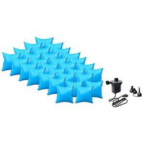 well2wellness Coussin Gonflable d'hivernage pour Piscine + Pompe électrique – 30 Coussins