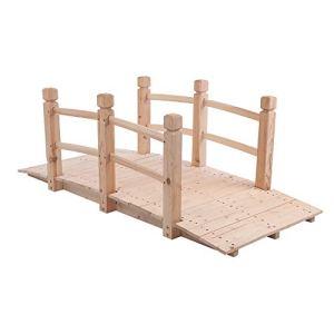 YIERMA Pont de jardin en bois 150 x 67 x 56 cm