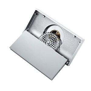 YoLiy Grille de déchets 20x10cm De Sol en Laiton Chromé De Sol De La Salle De Bain De Salle De Bain De Toilette Balcon Désodorant Dépouillement (Color : Silver, Size : 200x100mm)